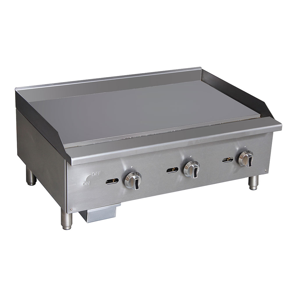 "Value Series G36 36"" Gas Griddle - Manual, 5/8"" Steel Plate"