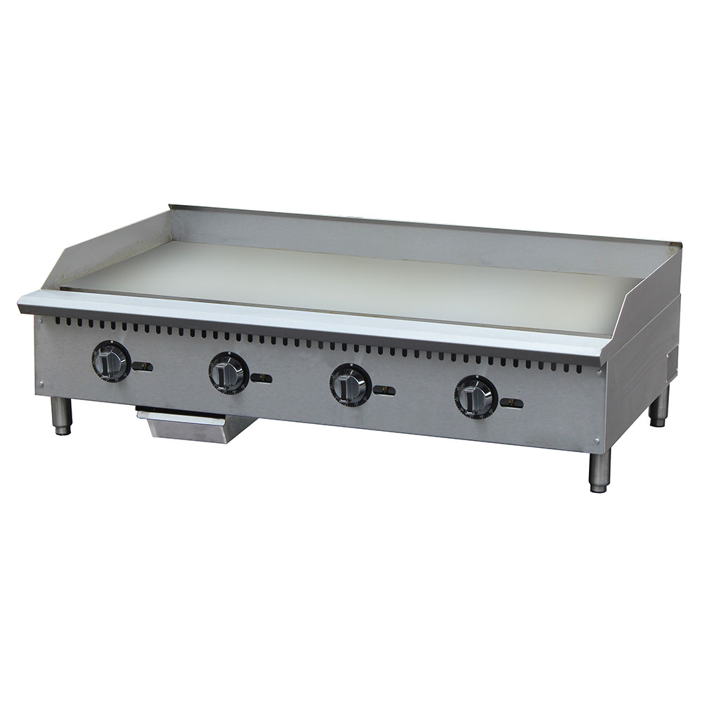"""eQuipped G48T 48"""" Gas Griddle - Thermostatic, 1"""" Steel Plate"""