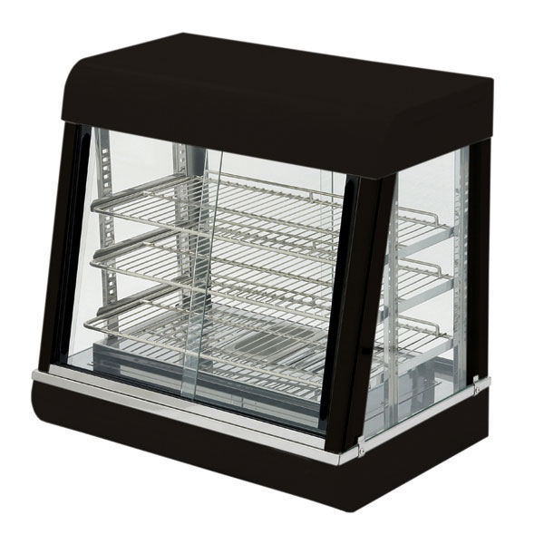 "eQuipped HDC-26 26"" Self-Service Countertop Heated Display Case - (3) Shelves, 120v"