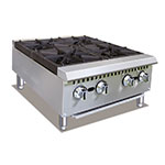 "Value Series HP424 24"" Gas Hotplate w/ (4) Open Burners - Cast Iron Grates, NG"