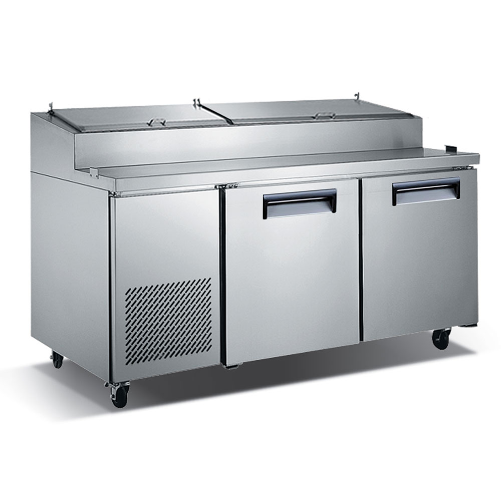 "eQuipped VPZ2 71"" Pizza Prep Table w/ Refrigerated Base, 115v"