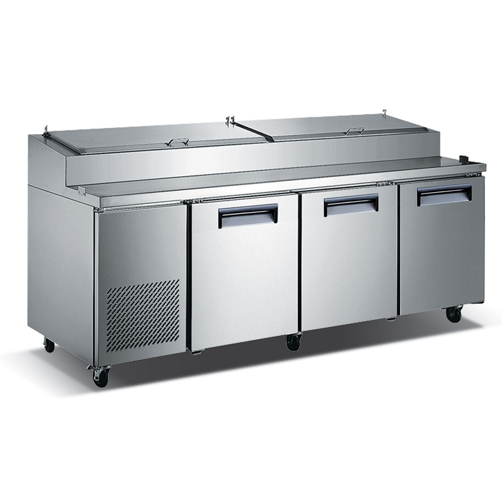 "eQuipped VPZ3 92"" Pizza Prep Table w/ Refrigerated Base, 115v"