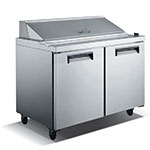"eQuipped VSS260 60"" Sandwich/Salad Prep Table w/ Refrigerated Base, 115v"