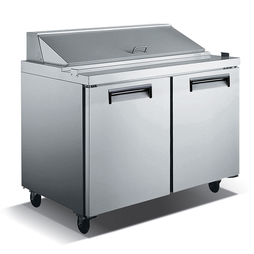 """eQuipped VSS2 47.75"""" Sandwich/Salad Prep Table w/ Refrigerated Base, 115v"""