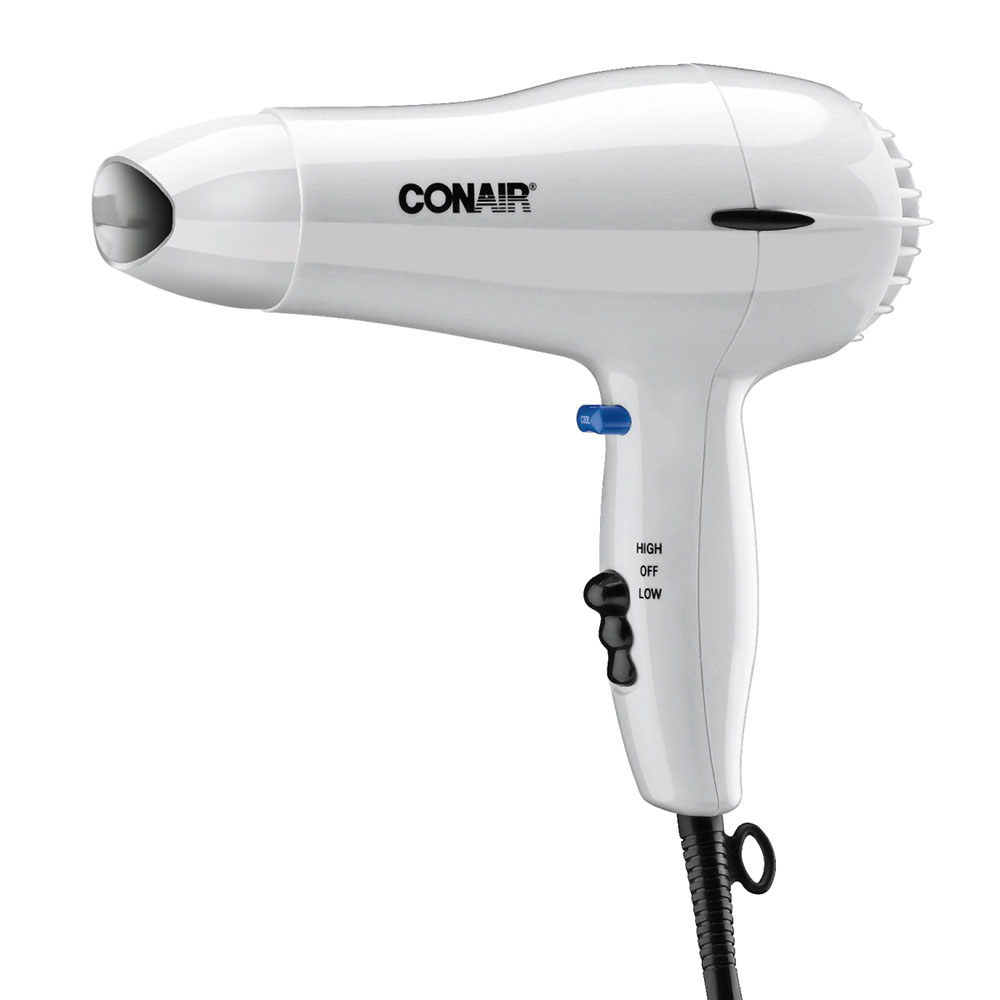 Conair Hospitality 047W Compact Hair Dryer w/ Cool Shot Button - (2) Heat/Speed Settings, White