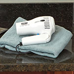 Conair Hospitality 169WIW Folding Hair Dryer w/ Cool Shot Button - (2) Heat/Speed Settings, White