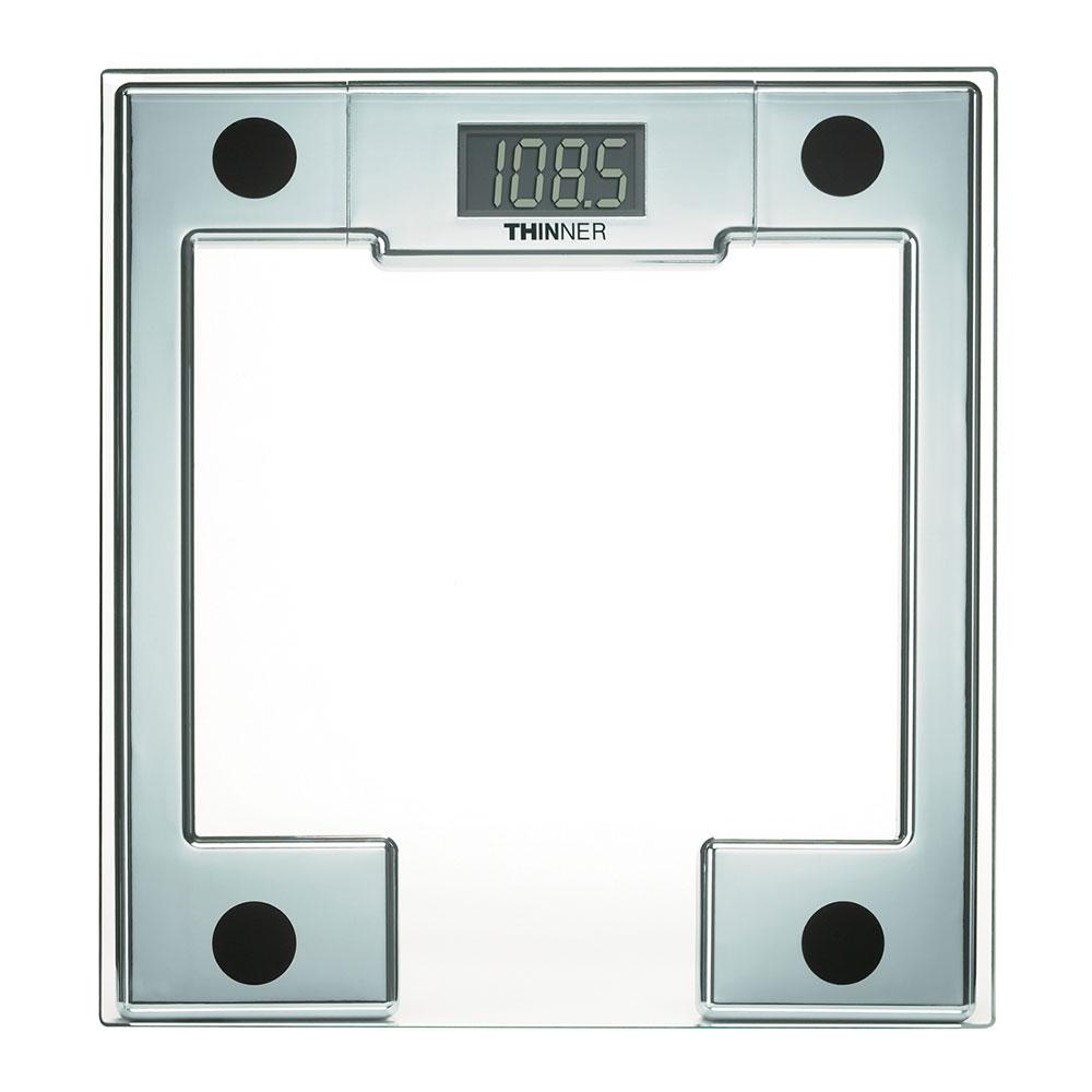 "Conair Hospitality MS-8140WH Digital Glass Scale w/ 330-lb Capacity - 11"" x 12"", Chrome"