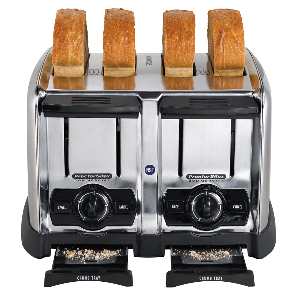 """Proctor Silex 24850 Slot Toaster - 150-Slices/hr w/ 1.5"""" Product Opening, 120v"""