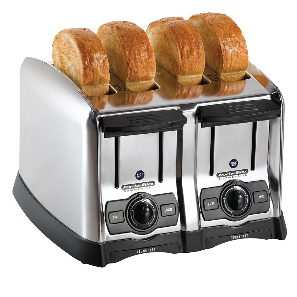 Proctor Silex 24850 4-Slot Pop-Up Toaster w/ Smart Bagel Function, 120 V