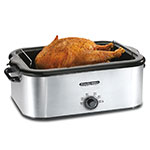 Proctor Silex 32918 18-qt Roaster Oven Warmer w/ Rack & Pan, Stainless, 120 V