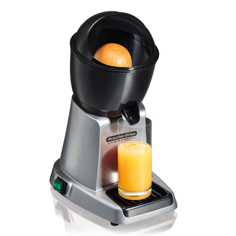 Proctor Silex 66900 Electric Citrus Juicer w/ (3) Reamer Sizes - Aluminum, 120v