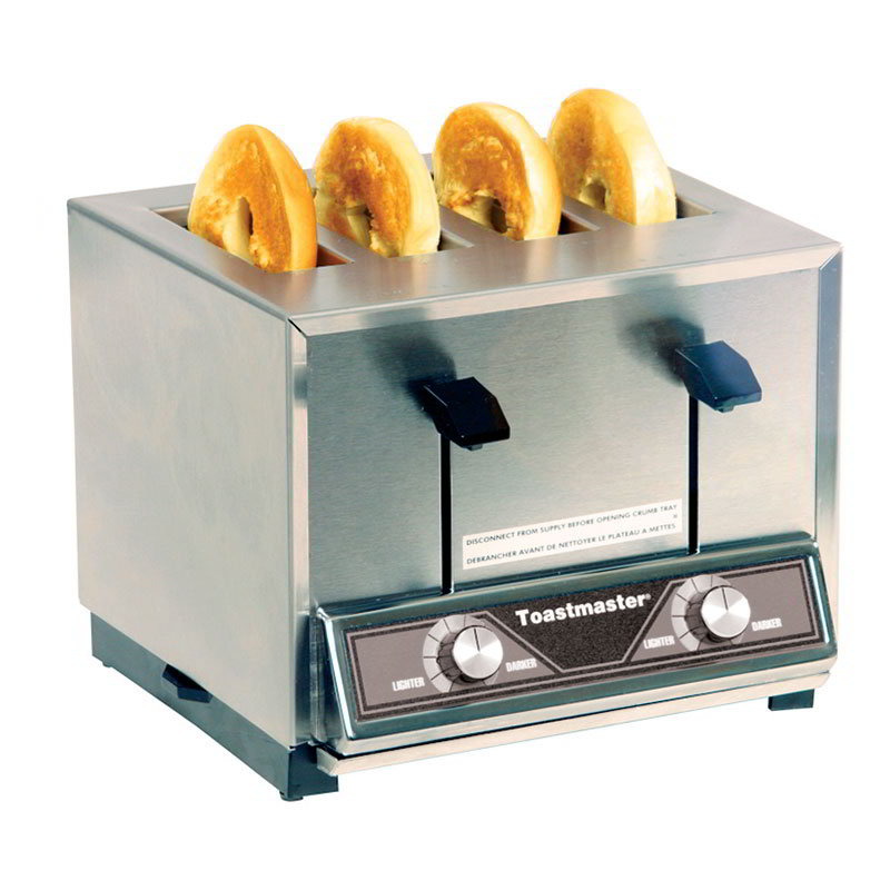 Toastmaster BTW09 Pop Up Toaster w/ 4-Extra Wide Slots, 300-Slices/Hr, 120v