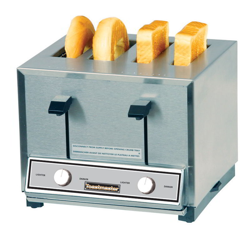 Toastmaster HT424 4-Slot Pop Up Toaster, 2-Wide & 2-Thin Toasting, 208v/1ph