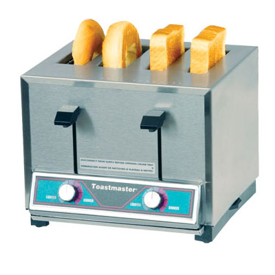 Toastmaster HT4C09 120 4-Slot Pop Up Toaster, 2-Wide & 2-Thin Toasting, Export