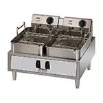 Toastmaster TMFE30 Countertop Electric Fryer - (2) 30-lb Vat, 240v/3ph