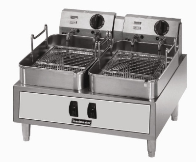 Toastmaster TMFE30 240 Countertop Electric Fryer - (2) 30-lb Vat, 240v/3ph