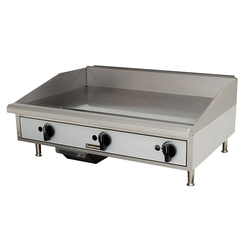 "Toastmaster TMGM36 36"" Gas Griddle - Manual, 3/4"" Steel Plate, NG"