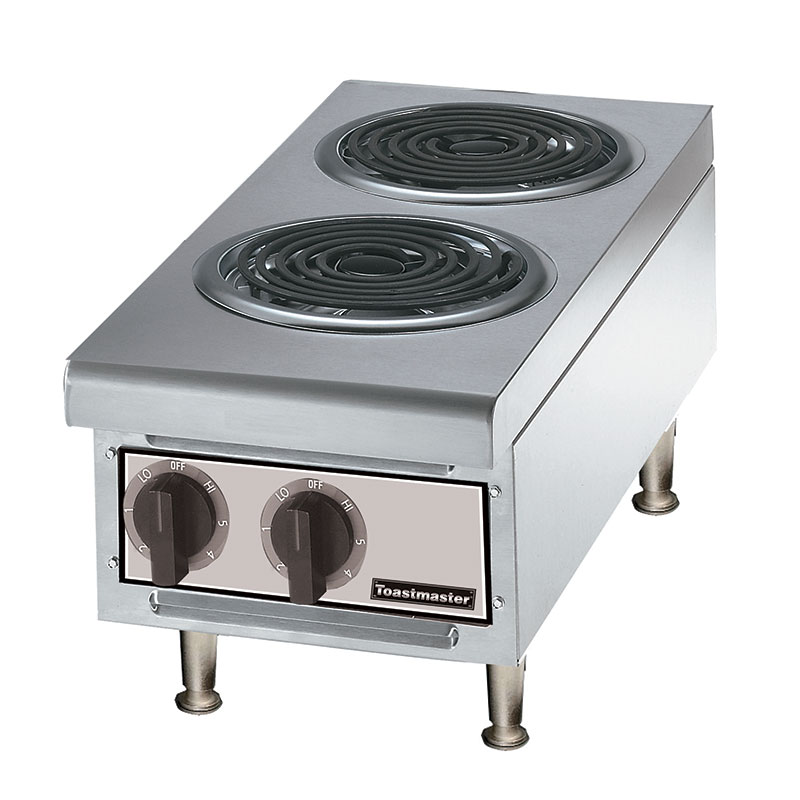 Toastmaster TMHPE 2401 12-in Hot Plate w/ 2-Coil Burners, 240 V