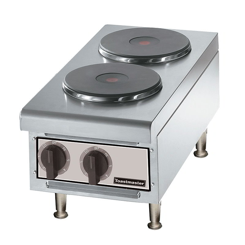 "Toastmaster TMHPF 2401 12"" Hot Plate w/ 2-Ceramic Burners, 240 V"