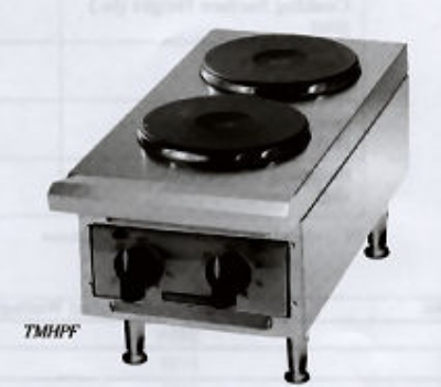 Toastmaster TMHPF 2401 12-in Hot Plate w/ 2-Ceramic Burners, 240 V