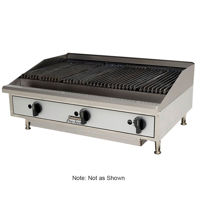 "Toastmaster TMLC48 48"" Gas Charbroiler w/ Reversible Grates, Lava Rock"