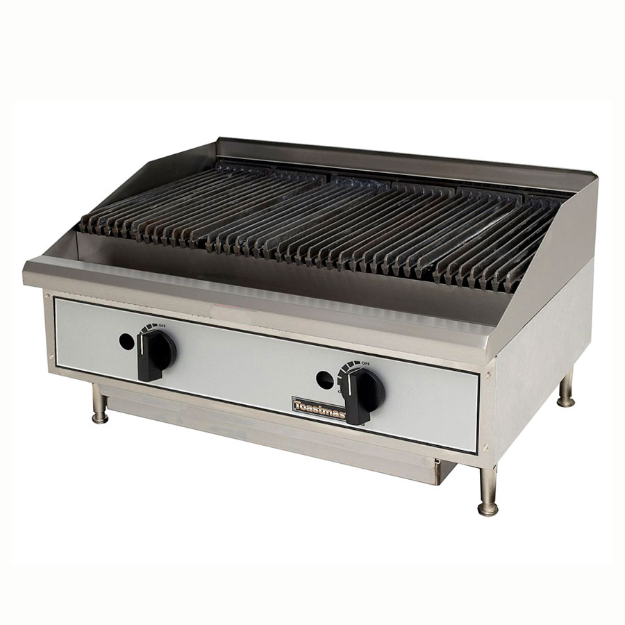 "Toastmaster TMRC24 24"" Gas Charbroiler w/ Reversible Grates, Radiant, NG"