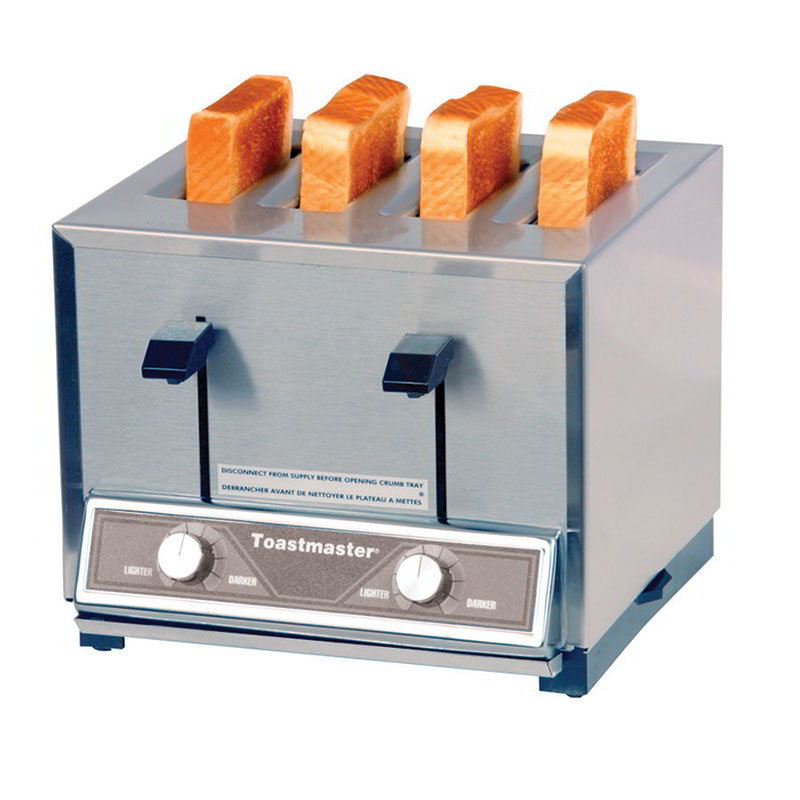 Toastmaster TP409 120 Pop Up Toaster w/ 4-Narrow Slots, 250- Slices/Hr Capacity, 120 V