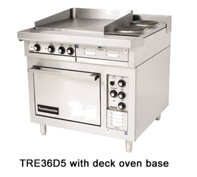 "Toastmaster TRE36C1 2081 36"" Electric Range with (3) Hot Top, 208/1v"