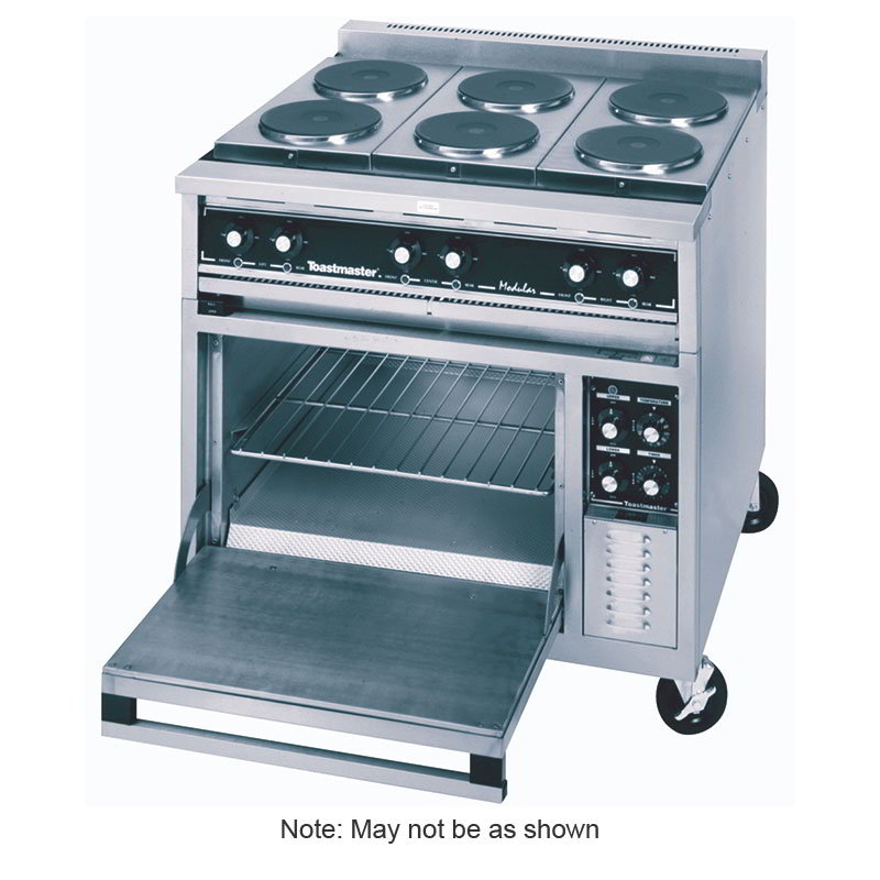 "Toastmaster TRE36D2 36"" 2-Sealed Element Electric Range with (2) Hot Top, 208v/3ph"