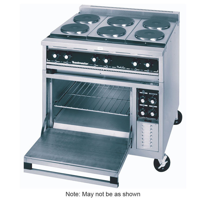 """Toastmaster TRE36D2M 36"""" 2-Sealed Element Electric Range with (2) Hot Top, 240v/3ph"""