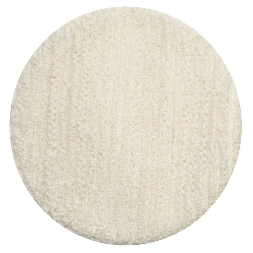 "Bissell 437.051 12"" Polish Pad for BGEM9000, White"