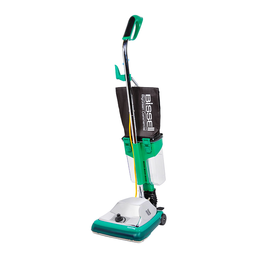 """Bissell BG101DC 12"""" ProCup Commercial Upright Vacuum w/ Dirt Cup - 870 Watts, Chrome"""