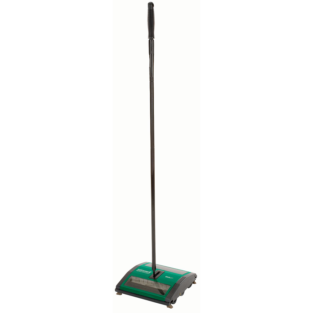 "Bissell BG21 9.5"" Sweeper w/ (2) Rubber Brushes & Viewing Window, Green"