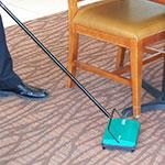 "Bissell BG22 9"" Sweeper w/ Single Rubber Brush, Green"
