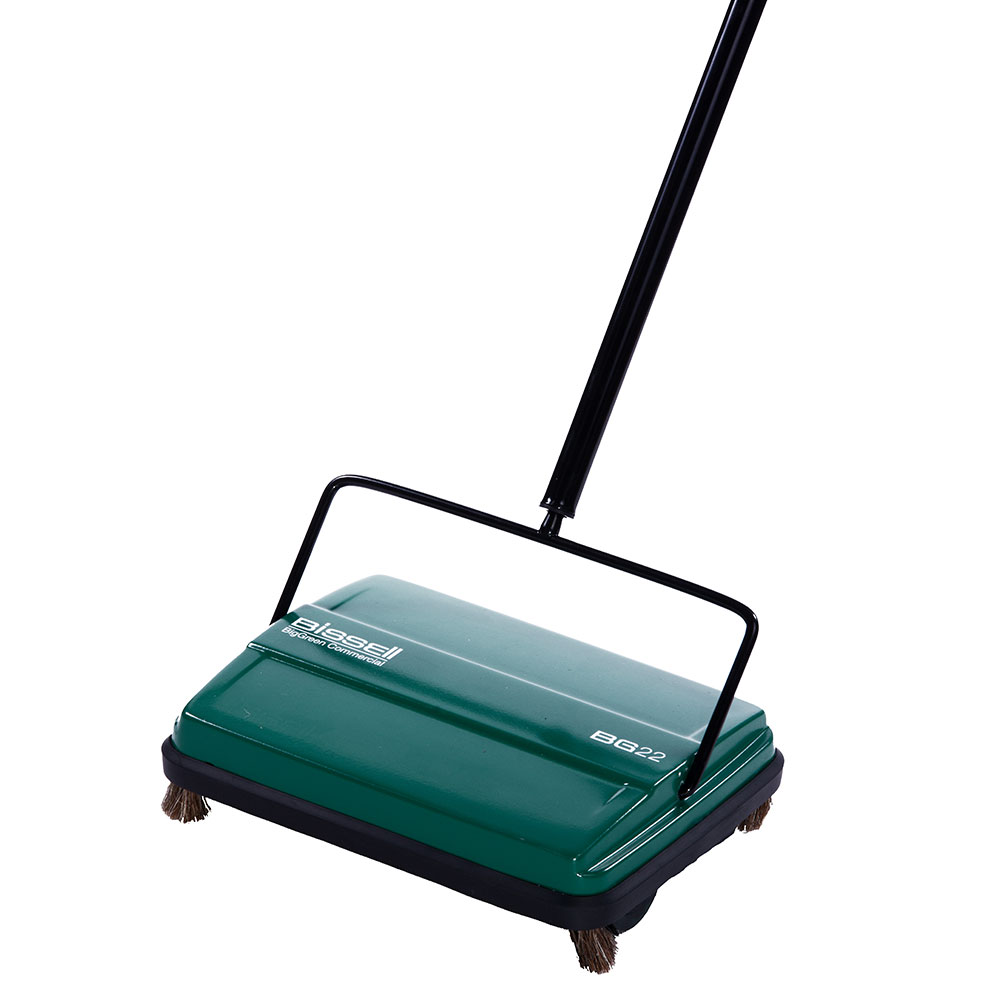 Bissell BG22 9 Sweeper w/ Single Rubber Brush, Green