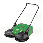 "Bissell BG-697 38"" Battery-Powered Deluxe Sweeper w/ (3) Brushes, Green"