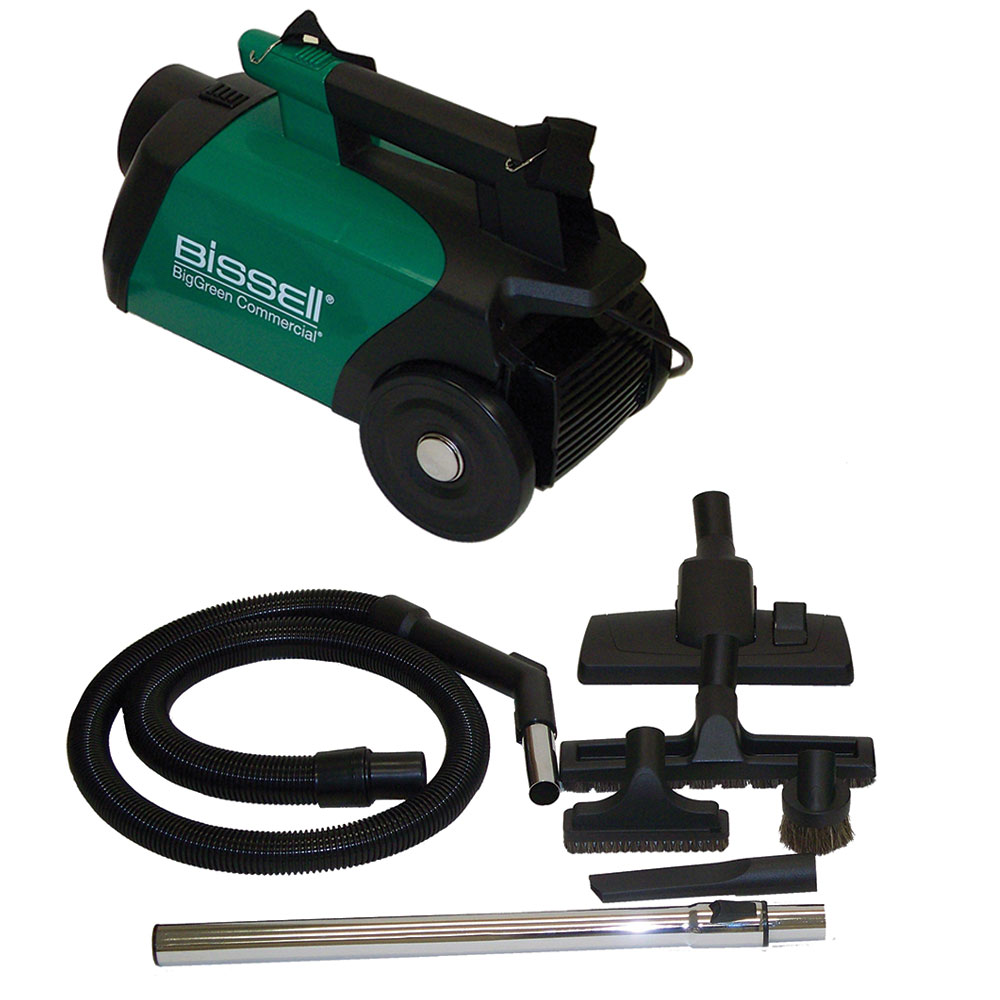 Bissell BGC3000 2-Liter Big Green Commercial Canister Vacuum w/ Attachments - 1080 Watts, Green