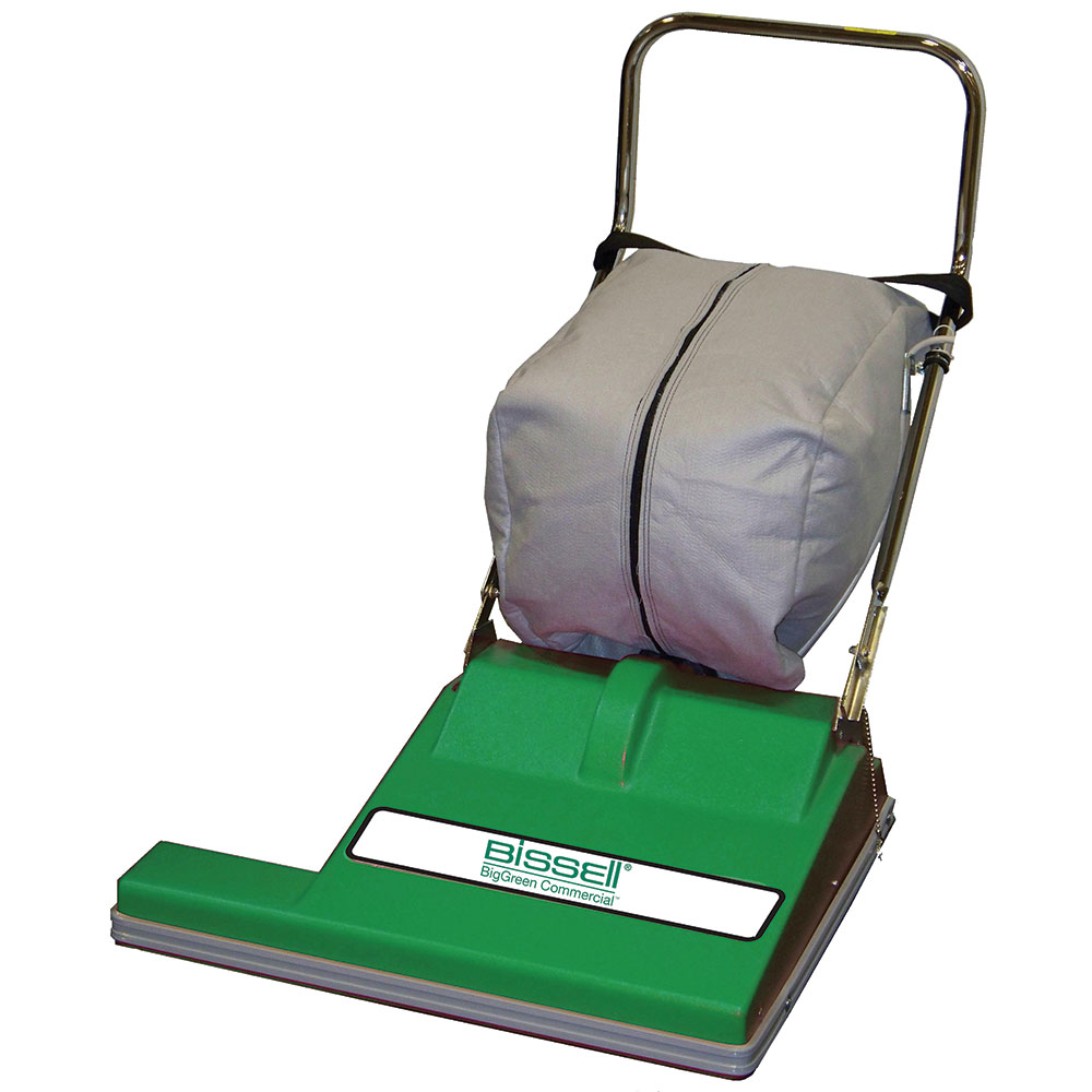 """Bissell BG-CC28 28"""" Wide Area Vacuum w/ Adjustable Height, Green"""