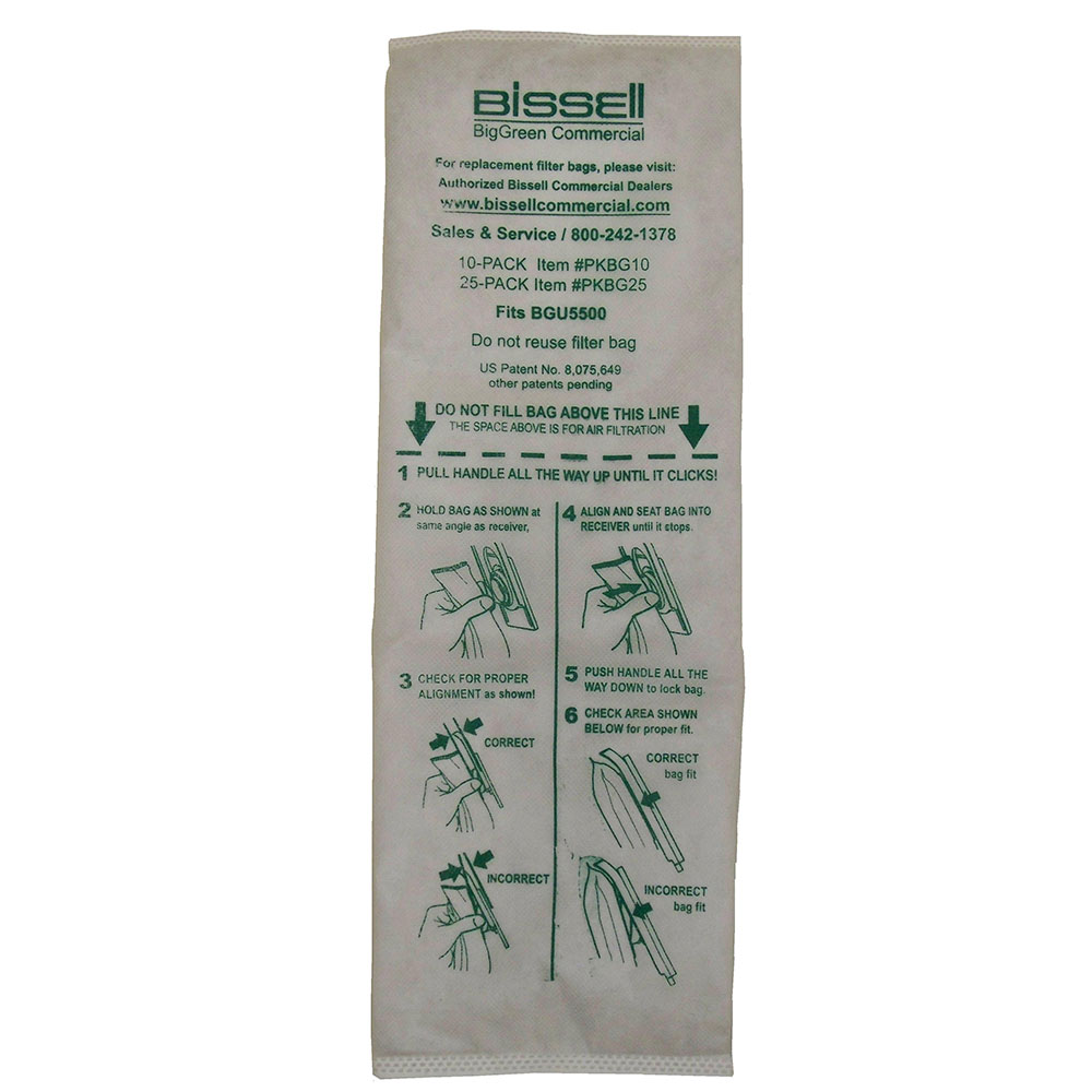 Bissell PKBG10 Vacuum Cleaner Bags for BGU5500
