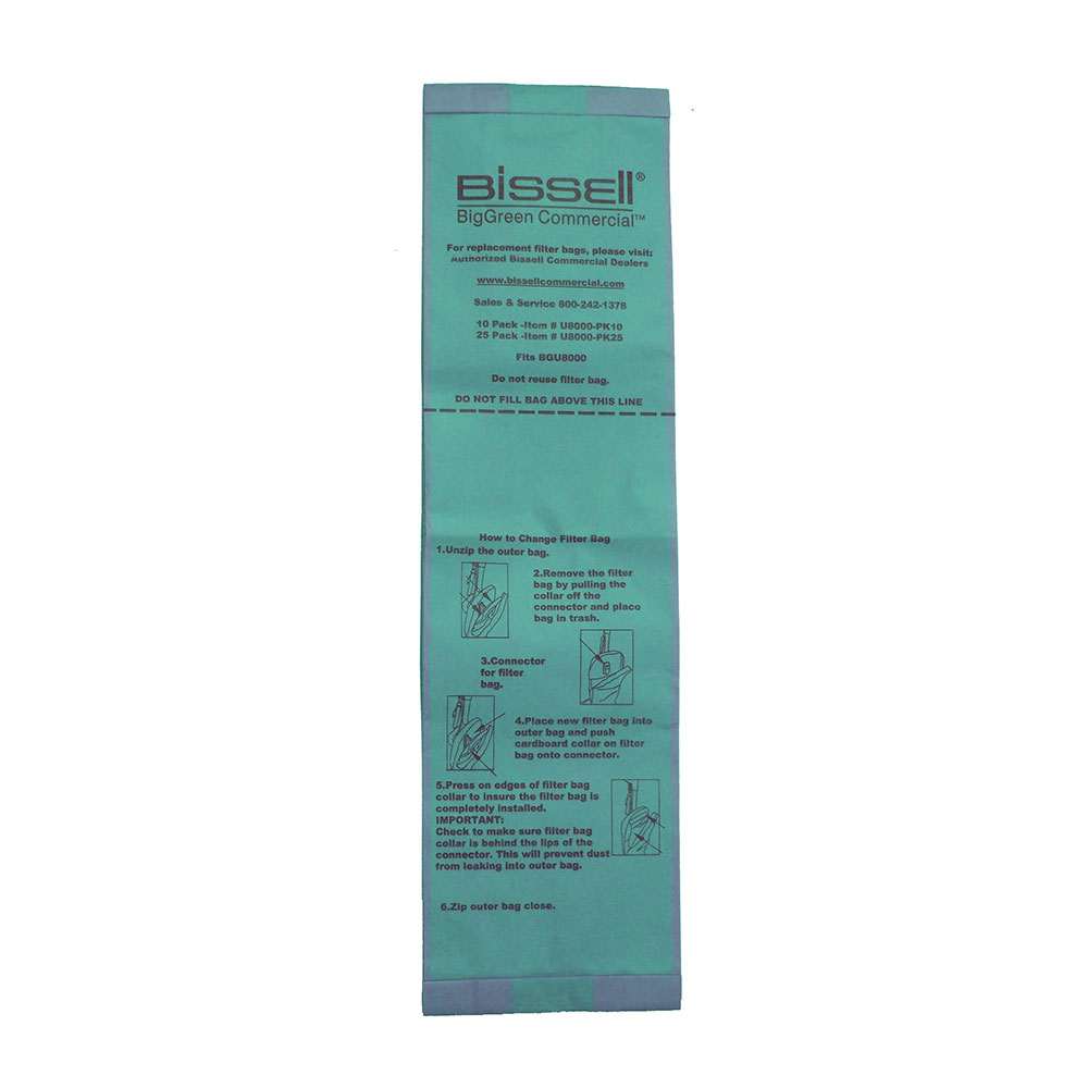 Bissell U8000-PK10 Replacement Bag for BGU8000EW