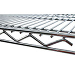 "Value Supplies 11442 Chrome Wire Shelf - 42"" x 14"""