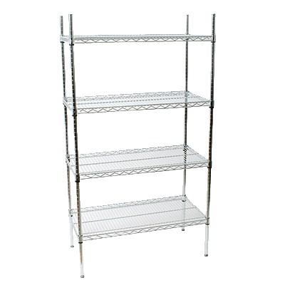 storeit 118487 chrome wire shelving unit w 4 levels 48. Black Bedroom Furniture Sets. Home Design Ideas