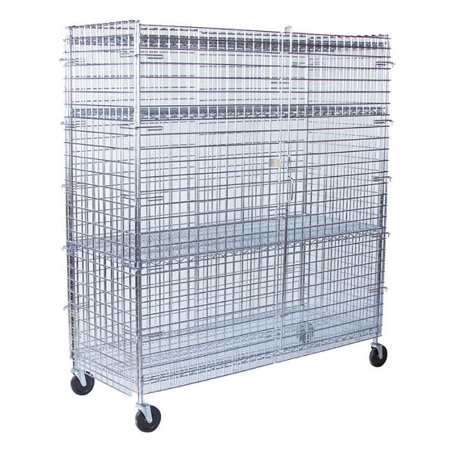 """StoreIt 10007 72"""" Mobile Security Cage, 24""""D"""