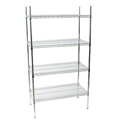 "StoreIt 124367 Chrome Wire Shelving Unit w/ (4) Levels, 36"" x 24"" x 72"""
