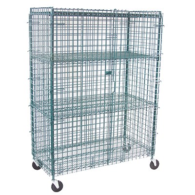 """StoreIt 20007 72"""" Mobile Security Cage, 24""""D"""