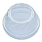 "Fabri-Kal DLDE16/24S Lid for Indulge™ Dessert Containers w/ 2"" Hole -  Plastic, Clear"