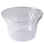 Fabri-Kal DLDE16/24T Tall Lid for Indulge™ Dessert Containers - No Hole, Plastic, Clear