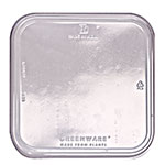 "Fabri-Kal LGS6OF Outer-Fit Lid for Greenware® On-The-Go Box - 6"" Square, Plastic, Clear"