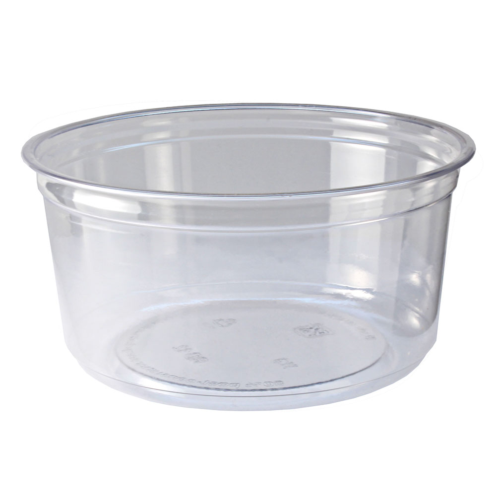 Fabri-Kal RD12 12-oz Alur Round Container - Plastic, Clear