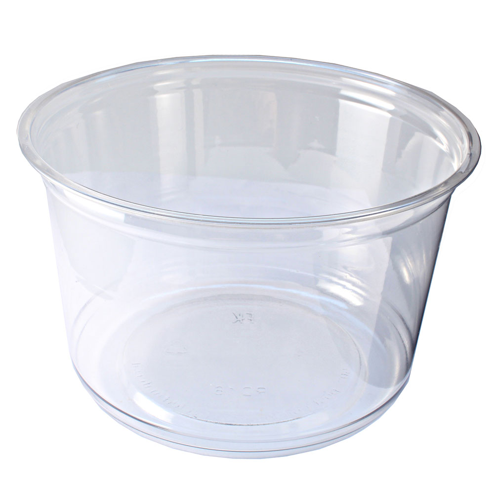Fabri-Kal RD16 16-oz Alur Round Container - Plastic, Clear